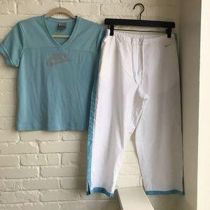 Nike Two Piece Set Capri Pants & Top Medium